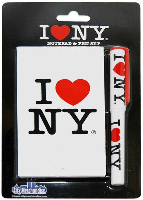 I Love NY White Notepad and Pen