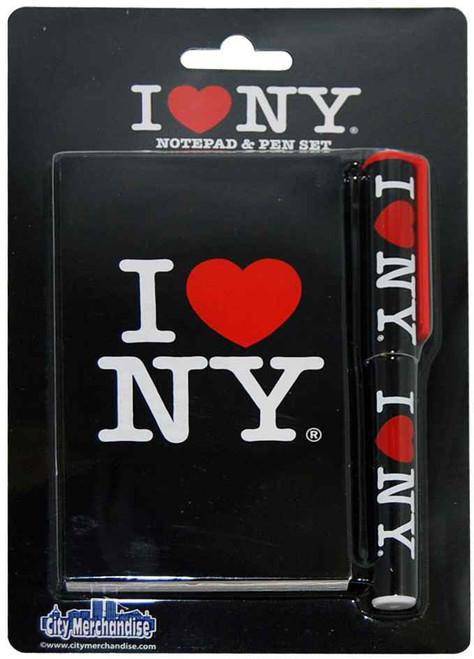 I Love NY Black Notepad and Pen