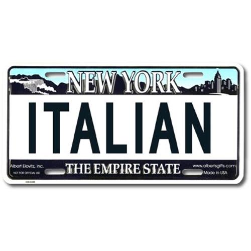 Italian NY License Plate