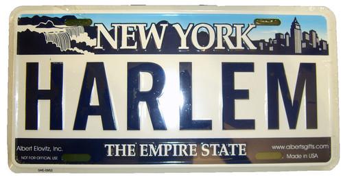 Harlem NY License Plate