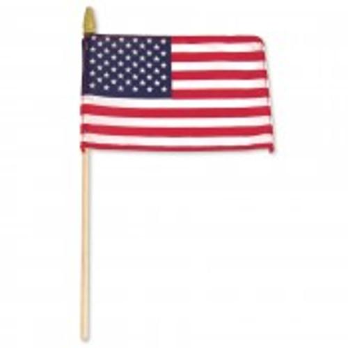 12 x 18 USA Flag on wood pole