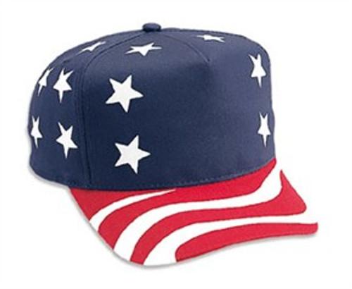 American Flag Retro Snapback Adjustable Cap