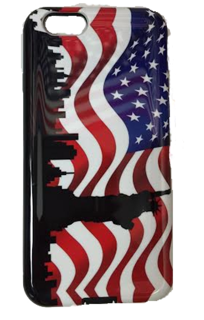 American Flag iPhone 6 Case - NYC Skyline Design