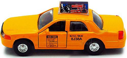 "NYC Taxi Cab 5"" Pullback Toy Car"
