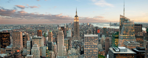 Empire State Building Midtown Panoramic 10 x 24 Poster