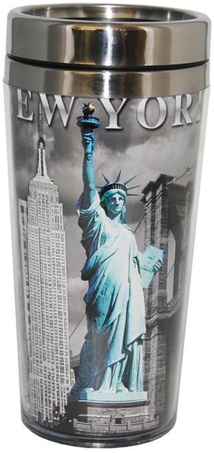 NYC Icons Liberty Contrast Tall Travel Mug