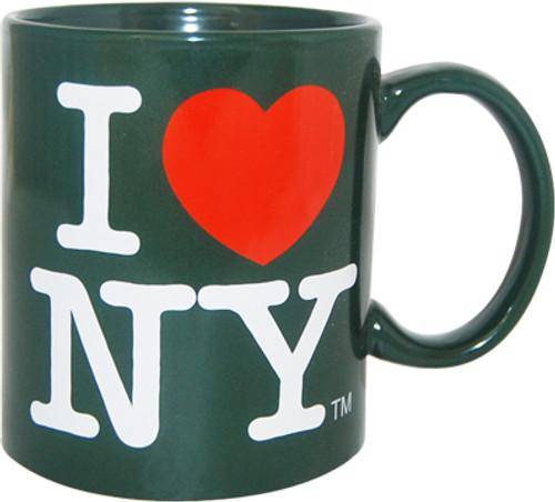 I Love NY Hunter Green 11oz Mug