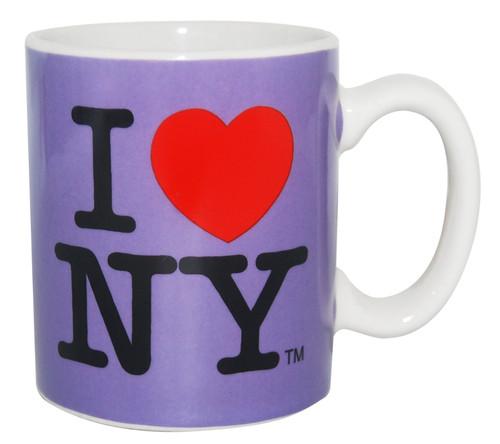 I Love NY Mini Mug - Purple