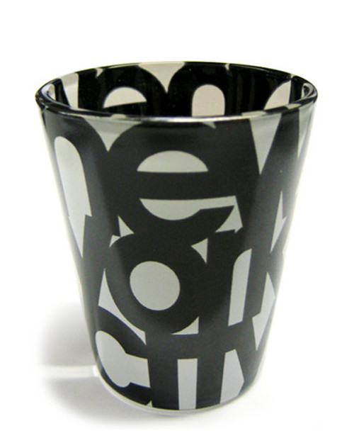 NYC Bold Black and White Shotglass