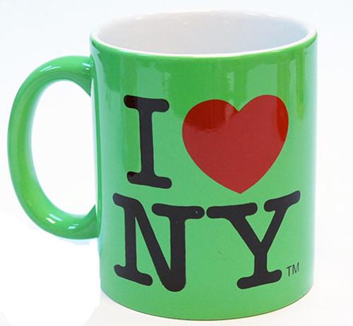 I Love NY Mug - Slime Green