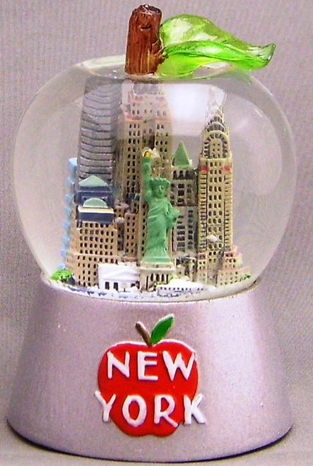 NYC Big Apple Shaped 45mm Snowglobe