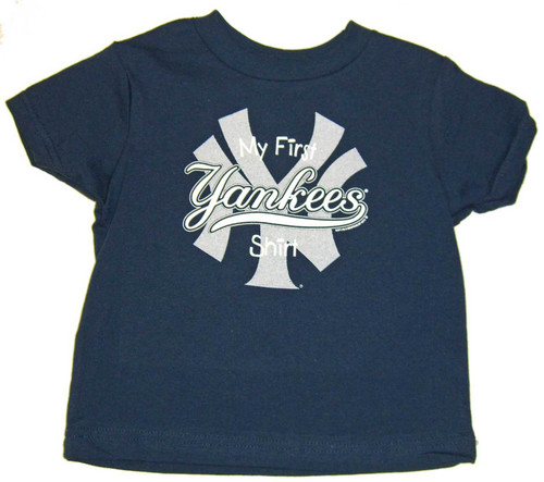 "Yankees Baby ""My First"" Navy Tee"