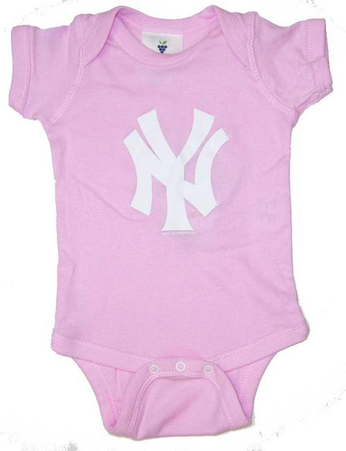"""Yankees Baby """"NY"""" Pink Creeper"""