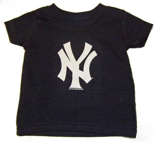"""Yankees Baby """"NY"""" Navy Tee"""