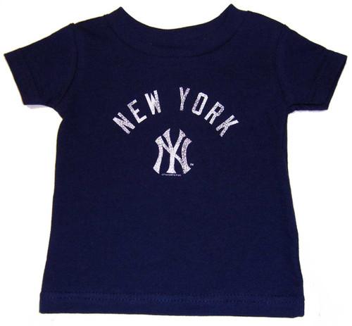 "Yankees Boys ""Team ID"" Navy Tee"