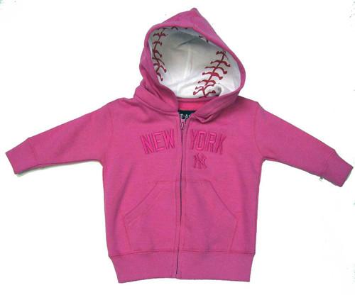 """Yankees Girls """"Team ID"""" Pink Sweatshirt"""