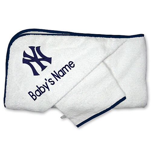 NY Yankees Personalized Towel and Wash Cloth Gift Set