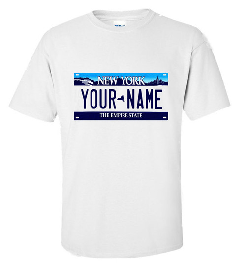 New York Personalized License Plate Shirt