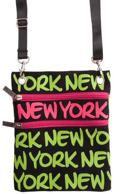 Robin-Ruth NY Neon Green Neck Wallet