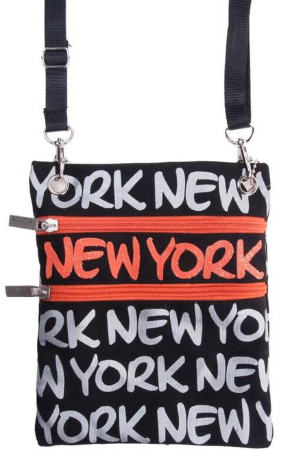 Robin-Ruth NY Black/Orange Neck Wallet