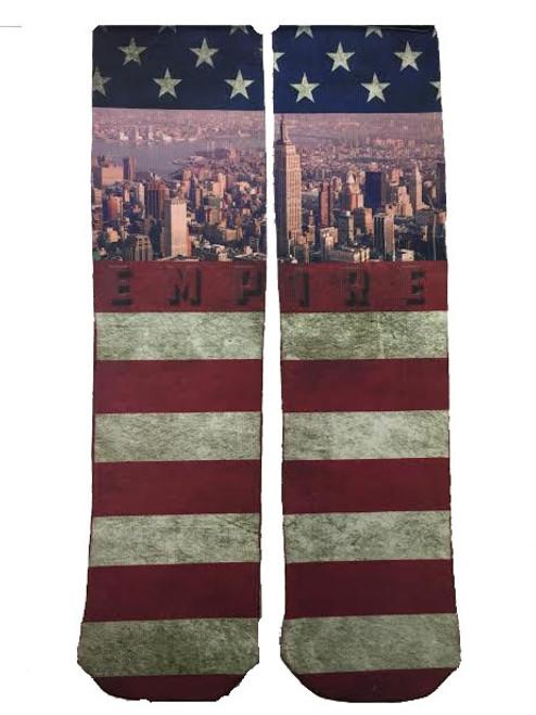 USA Distressed Flag Tube Socks