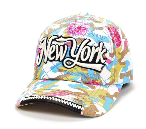 Robin-Ruth NY Floral Camouflage Cap- Light