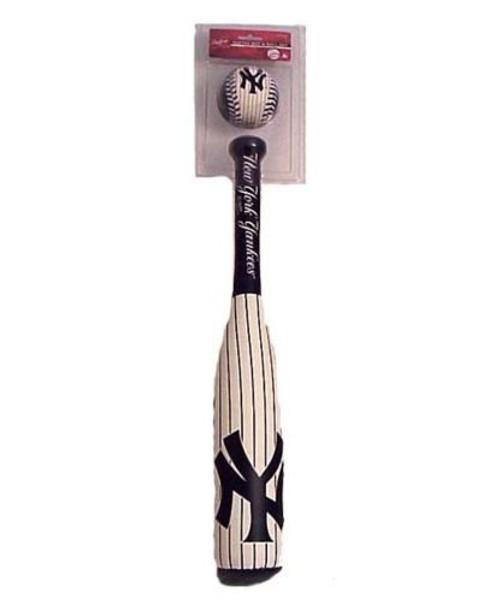Rawlings New York Yankees White Softee Bat & Ball Set