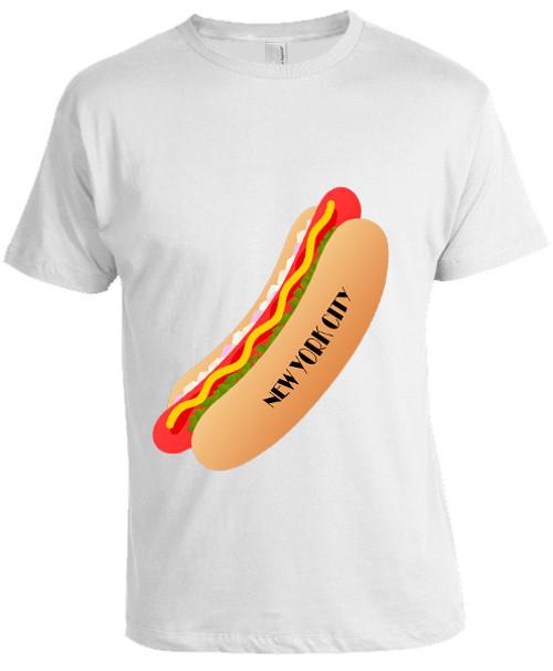 NY Hot Dog T-shirt -White