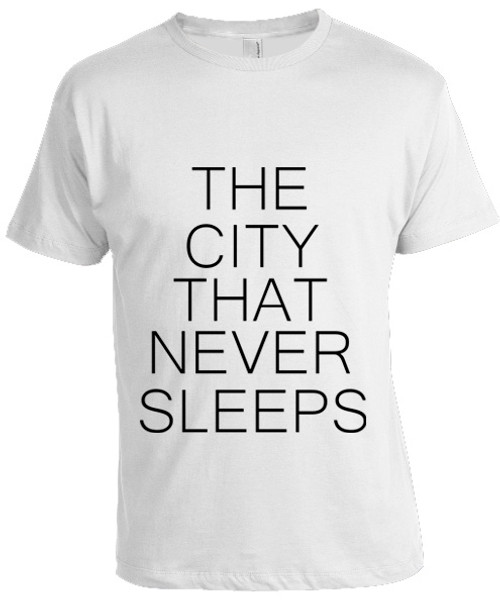 NY The City That Never Sleeps T-shirt -White