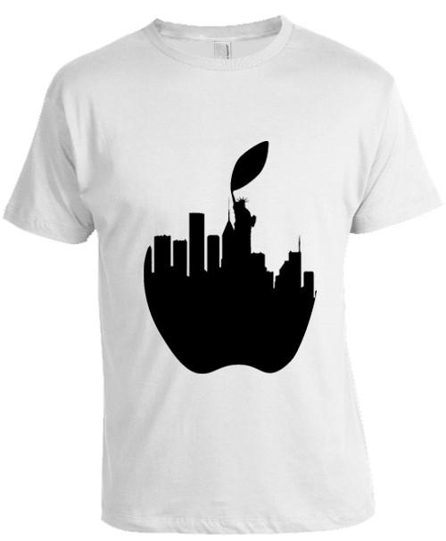 NY Liberty Apple T-shirt -White
