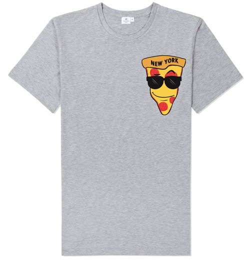 NY Loves Pizza T-shirt -Grey