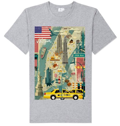 Scenic NY T-shirt -Grey
