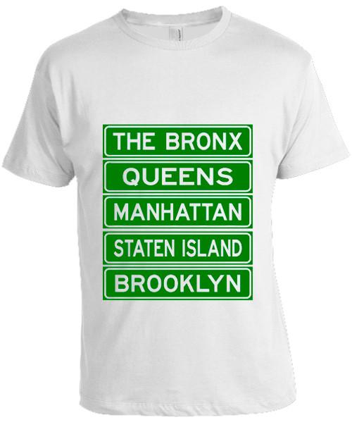 NY Street Sign T-shirt -White