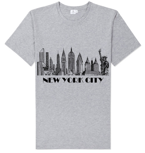 New York City Skyline T-shirt -Grey