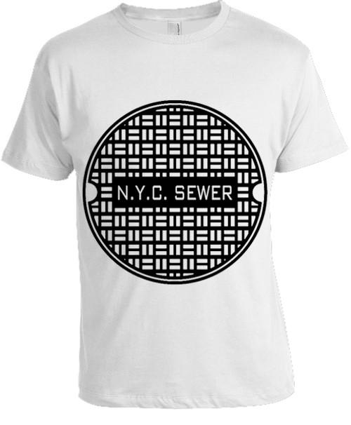 NYC Sewer T-shirt White