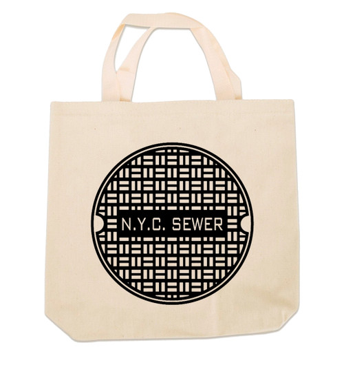 NYC Sewer Canvas Tote Bag