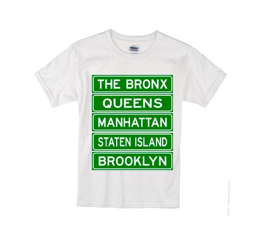 Kids NY Street Signs T-shirt -White