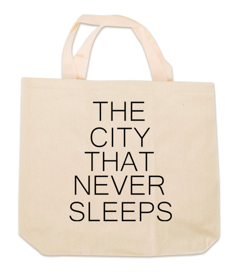 NY The City That Never Sleeps Canvas Tote Bag