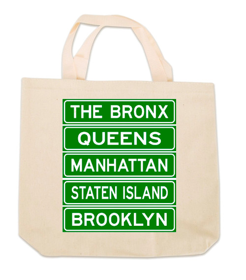 NY Street Signs Canvas Tote Bag