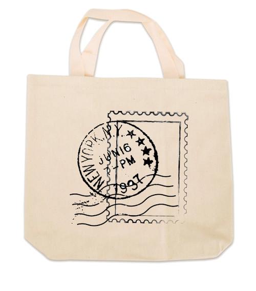 NY Postal Stamp Canvas Tote Bag