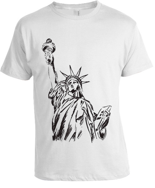 NY Liberty Sketch T-shirt