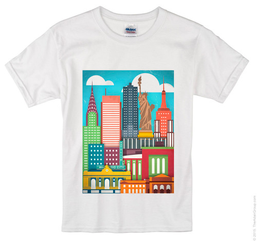 Kids Color Me NY T-shirt