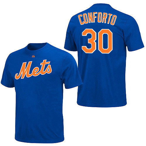 Michael Conforto T-Shirt - Blue New York Mets Adult T-Shirt