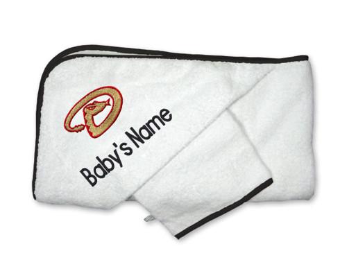 Arizona Diamonbacks Personalized Towel and Wash Cloth Gift Set
