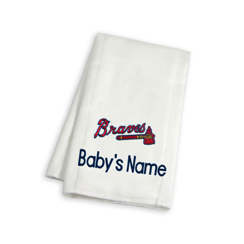 Atlanta Braves Personalized Burp Cloth