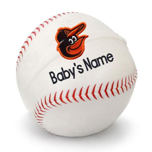 Baltimore Orioles Personalized Baseball Pillow