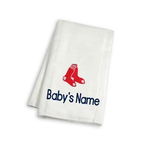 Boston Red Sox Personalized Burp Cloth