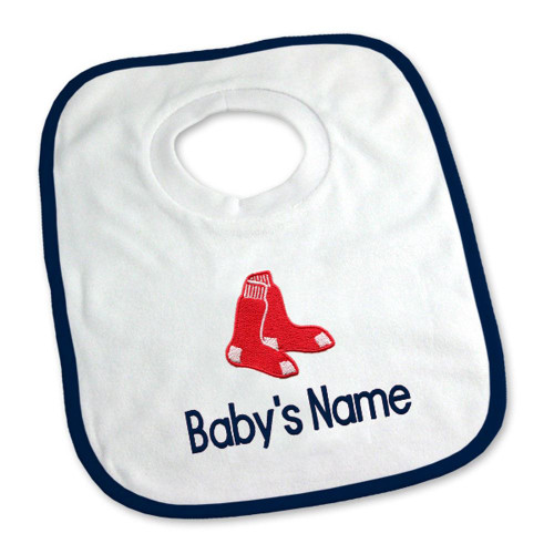 Boston Red Sox Personalized Pullover Baby Bib