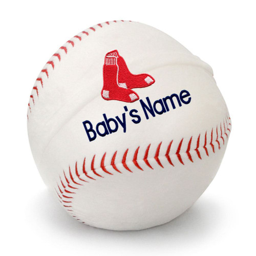 Boston Red Sox Personalized Baseball Pillow