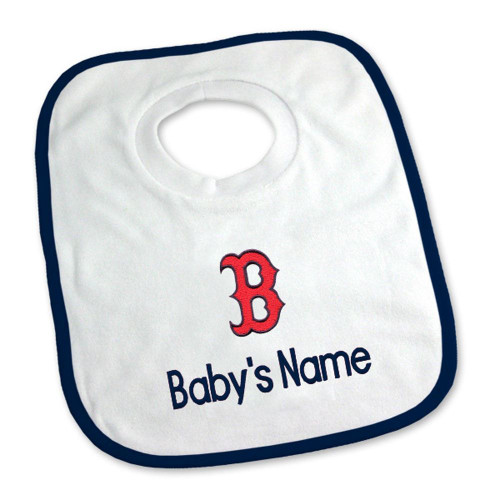 Boston Red Sox B Personalized Pullover Baby Bib